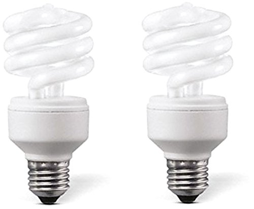 mini Spiral E27 8W CFL Bulb (White, Pack of 2)