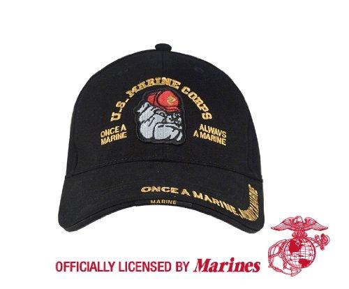 Deluxe Low Profile Cap - Black Marine Bulldog