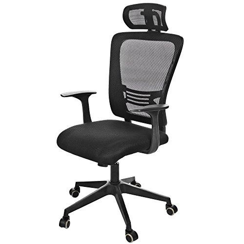 Ancheer-Mesh-Ergonomischer-Brostuhl-Computerstuhl-Drehstuhl-Mesh-Gepolsterter-Sitz-verstellbar-Stuhl-Typ-2
