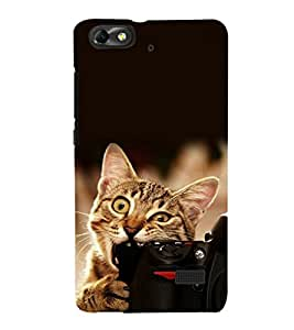 printtech Funny cat Camera Bite Back Case Cover for Huawei Honor 4C::Huawei G Play Mini