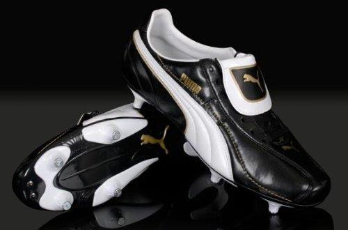 Puma Esito Kids Screw-In Football Black/White Shoes