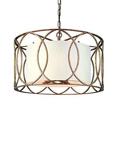 Shorewood Lighting Carter 5-Light Chandelier, Silver Gold