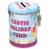 Boxer Gifts Saver Tins, Exotic Holiday Fund
