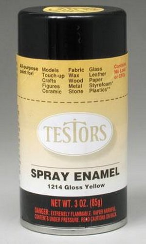 Testors Spray Paint, Yellow, 3-Ounce