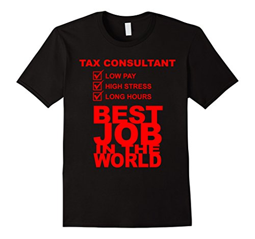 Men's Tax Consultant. Best Job In The World T-Shirt Large Black