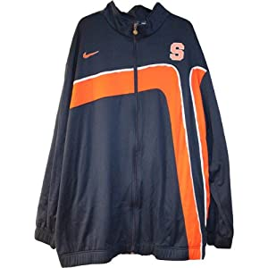Jackson Warm-Up Jacket - Syracuse 2009-10 Mens Basketball #00 Game Worn Blue and... by Steiner+Sports