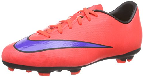 Nike Jr Mercurial Victory V FG Soccer Cleats (Bright Crimson, Persain Violet) (13c) (Soccer Shoes Side 13c compare prices)