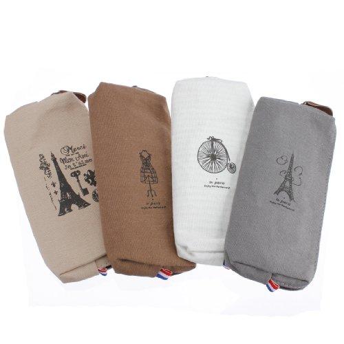 Go-RetailStore Lot de 4 trousses en tissu Couleurs variées Eiffel