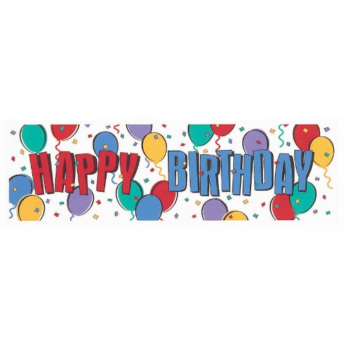 Amscan 201809 Happy Birthday Balloon Giant Sign Banner - 1