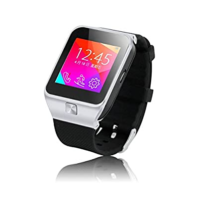 "Geekercity® 2015 Bluetooth 1.54"" OLED Touch Screen Smart Watch Wrist Digital Watches Sports Running Bracelet Smartphones Mate Partner Smartwatch Phone Wristband Wristwatch Fitness Health Passometer Step Walking Distance Calorie Counter Activity Tracker Sl"