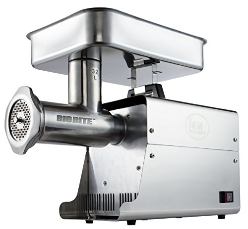 LEM Products W782A Stainless Steel Big Bite Electric #32-Meat Grinder (1.5-HP) (Lem 5 Meat Grinder compare prices)