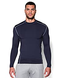 Men\'s Under Armour ColdGear Armour Compression Mock, Midnight Navy (410), Large