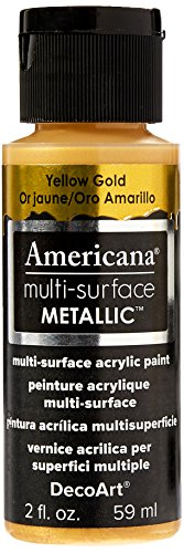 DecoArt Americana Multi-Surface Metallic Paint, 2-Ounce, Yellow Gold (Yellow Gold Paint compare prices)
