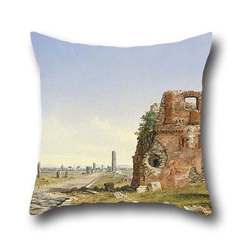 The Oil Painting John Linton Chapman - The Appian Way Cushion Covers Of ,16 X 16 Inches / 40 By