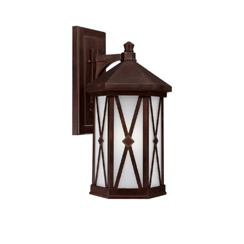 Capital Lighting 9874Bb-Gu Outdoor Fixture With Frosted Seeded Glass Shades, Burnished Bronze Finish front-40841
