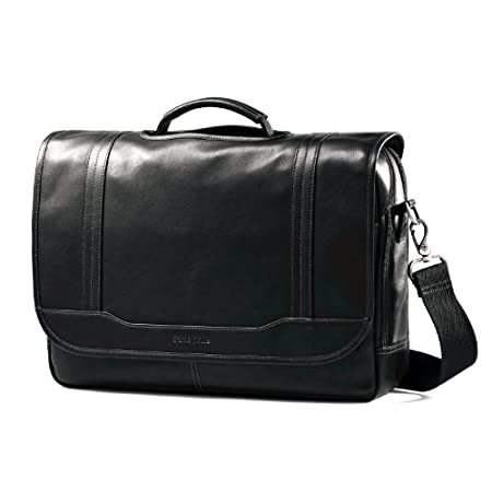 Samsonite Colombian Leather Flapover Briefcase