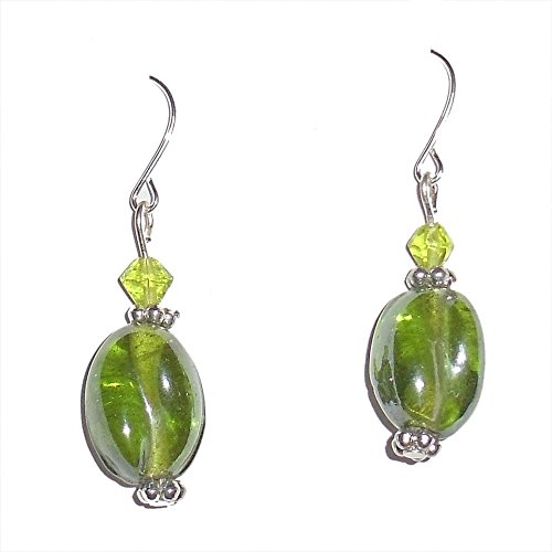 Beadworks Beadworks Beaded Earrings - Green Colour Beaded Casual Earrings (Multicolor)