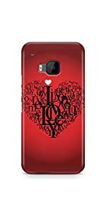 Casenation Love Love Love HTC One M9 Glossy Case