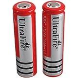 2xUltraFire 3000mAh 18650 Li-Ion wiederaufladbarer Akku 3,7 V geschützt (Lieferzeit: 1-3 Werktage Versand aus Deutschland von 365buy)