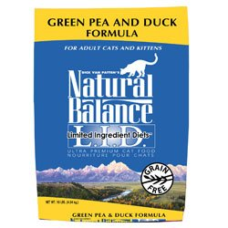 See Natural Balance Green Pea & Duck Formula Dry Cat Food 10-lb bag