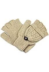 Dahlia Women's Winter Wool Flip Top Gloves