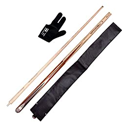 JBB combo of snooker n pool vaccum joint cue with cue cover n glove