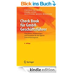 Check Book f�r GmbH-Gesch�ftsf�hrer