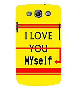 printtech Myself Back Case Cover for Samsung Galaxy S3::Samsung Galaxy S3 i9300