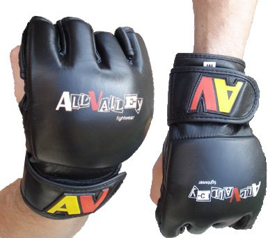 AV MMA Gloves v2.0, Black, Size: Large