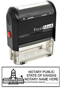 ExcelMark Self Inking Notary Stamp - Kansas