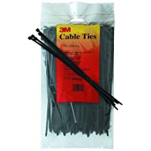 3M 06204 Weather-Resistant Standard Cable Tie, 15-Inch, Black, 100-Count