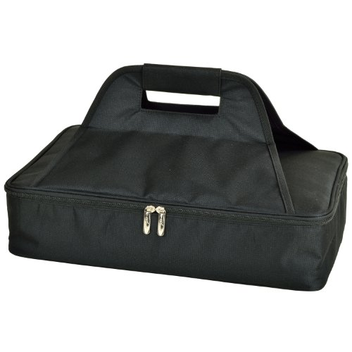 Picnic at Ascot Insulated Casserole Carrier to keep Food Hot or Cold- Black (Picnic Foods compare prices)
