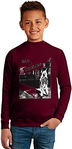 Bad Religion Superb Quality Boys Sweater by TRUE FANS APPAREL - 50% Cotton & 50% Polyester- Set-In Sleeves- Open End Yarn- Unisex for Boys and Girls 10-12 years