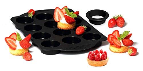 Yoko Design 1262 Kit Tartelettes Silicone/Platinum Noir 30 x 19 x 2 cm