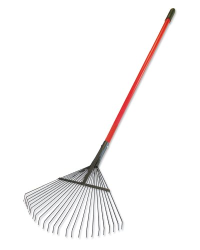 Bully Tools 92312 24-Inch Lawn and Leaf Rake with Fiberglass Handle