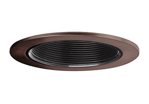 "Aurora 4"" Black Baffle, Bronze Trim For Halo / Juno Recessed Downlight Cans - Ar-Tr44Bkbr"