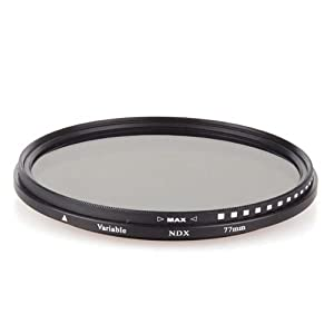 NEEWER® 77mm ND Fader Neutral Density Adjustable Variable Filter (ND2 to ND400)
