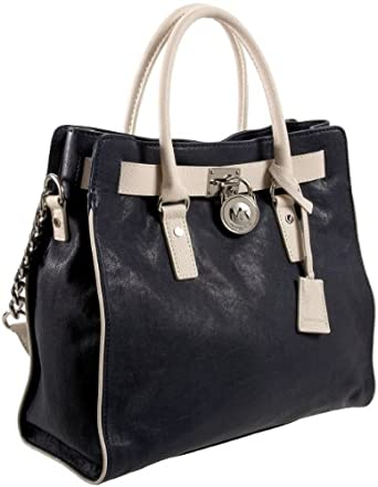 MICHAEL Michael Kors Hamilton Large N/S Spectator Tote,Navy/Vanilla,one size