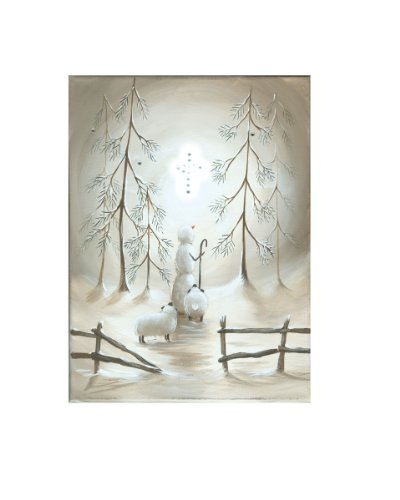 Ohio Wholesale Radiance Lighted Star Of Wonder Canvas Wall Art, From Our Snowmen Collection