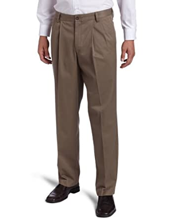 Dockers Men's Iron Free Khaki D3 Classic Fit Pleated Pant, Willow, 30X30