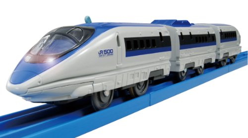 Tomica PraRail S-02 Series 500 Bullet Train With Light (Model Train) by Takara Tomy (Toy Bullet Train compare prices)