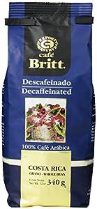 Cafe Britt Costa Rica Decaffeinated Whole Bean Coffee, 12 Ounce Bag