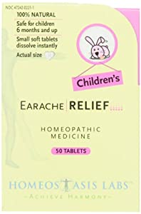 Homeostasis Labs Children's Earache Relief, 50-Count