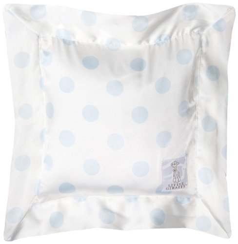 Little Giraffe Luxe Cream Dot Pillow, Blue