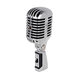 Krown Vintage Series Retro Dynamic Mic with Low Noise 5 Mtr Wire Microphone