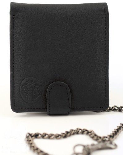 Sale alerts for  GENTS LEATHER WALLET AND CHAIN (086) (BLACK) - Covvet
