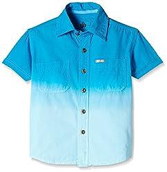 UFO Boys' Shirt (AW16-WB-BKT-231_Hawaiian Blue_10 - 11 years)