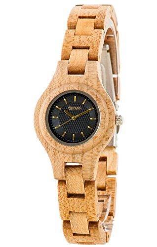 Holzuhr TENSE Womens Pacific Premium Damen-Uhr L7509M-BG - Nat&uumlrliches Ahonholz L7509M-BG