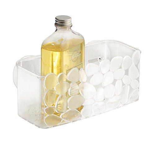 InterDesign Pebblz Duschkorb mit Saugnäpfen, durchsichtig