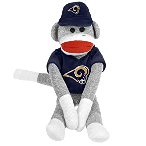 NFL St. Louis Rams Uniform Sock Monkey at 'Sock Monkeys'